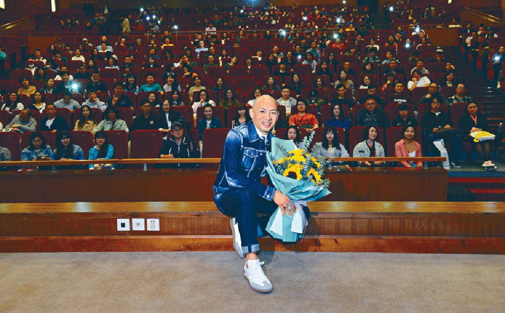 ■林超賢現身與觀眾對話,並剖白從影30年的心路歷程。