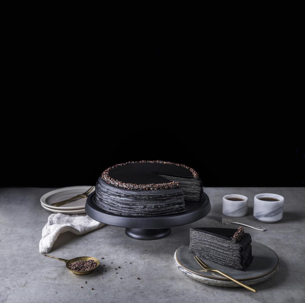 竹炭咖啡千層蛋糕 $75/件