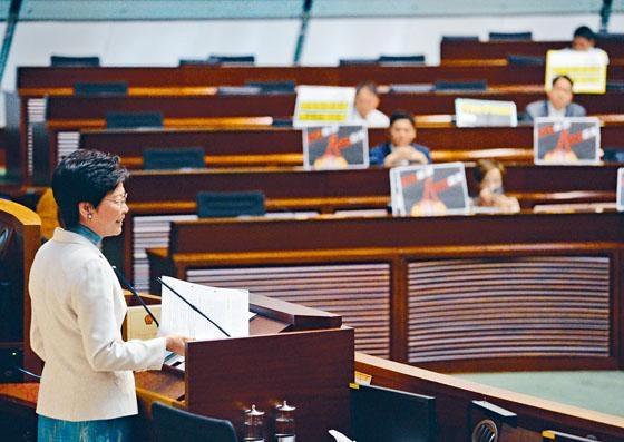 林鄭月娥昨日出席立法會答問大會,回答議員對《施政報告》的疑問。