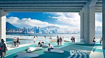 東區海旁行人板道設計圖。