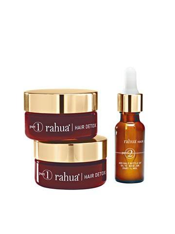 Rahua Detox & Renewal Kit天然護髮療程,首創百分百純天然、有機、全素及不含麩質配方,為秀髮先排毒後修復,重拾健康髮絲及頭皮。