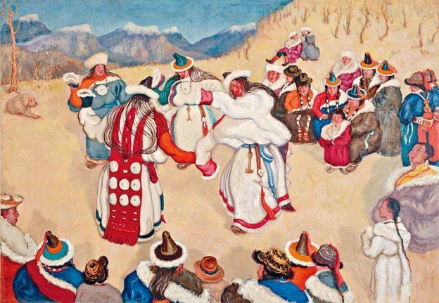 ●孫宗慰《蒙藏女子歌舞》