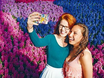 Kaleido Park的花藝設計特別考慮到拍照背景,部分花朵以傾斜方式砌成「花牆」,令遊客拍照時有「花海」感覺。