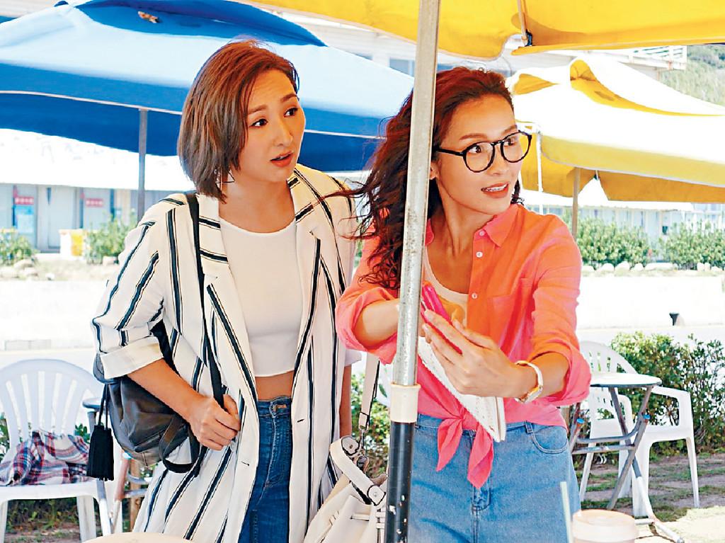 高Ling露腰 ■李佳芯和高海寧到台灣尋找江嘉敏下落。