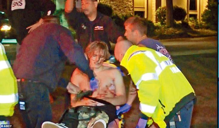 一名相信受槍傷的男子,獲救後送院治理。