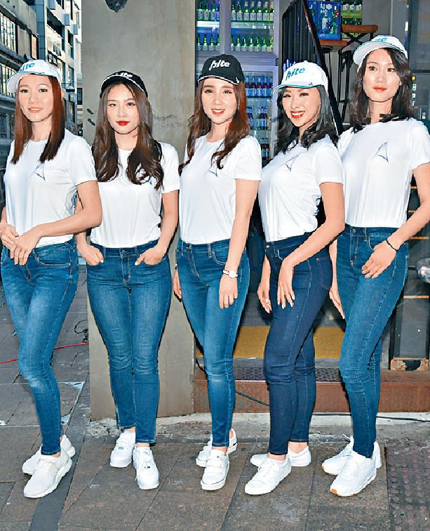 ■五位海外賽區佳麗質素不俗,葉津妗(左一)更放棄律師職位參選。