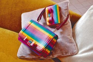 上/拉鏈零錢包及下/Vera Rainbow手袋。