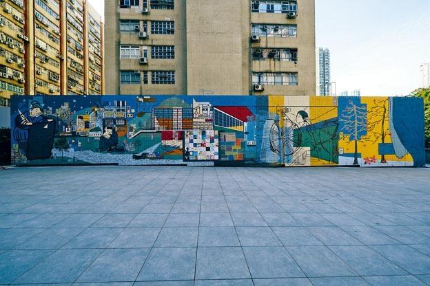 《跡織繪》置於紗廠公園四米乘二十三米的牆上,蘊含本地紡織的真實故事。