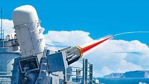 美國海軍激光武器的繪圖。