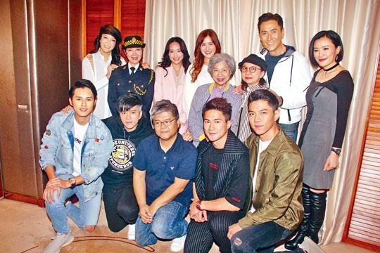 馬德鐘與張曦雯等《跳躍》演員慶祝結局收視報捷。