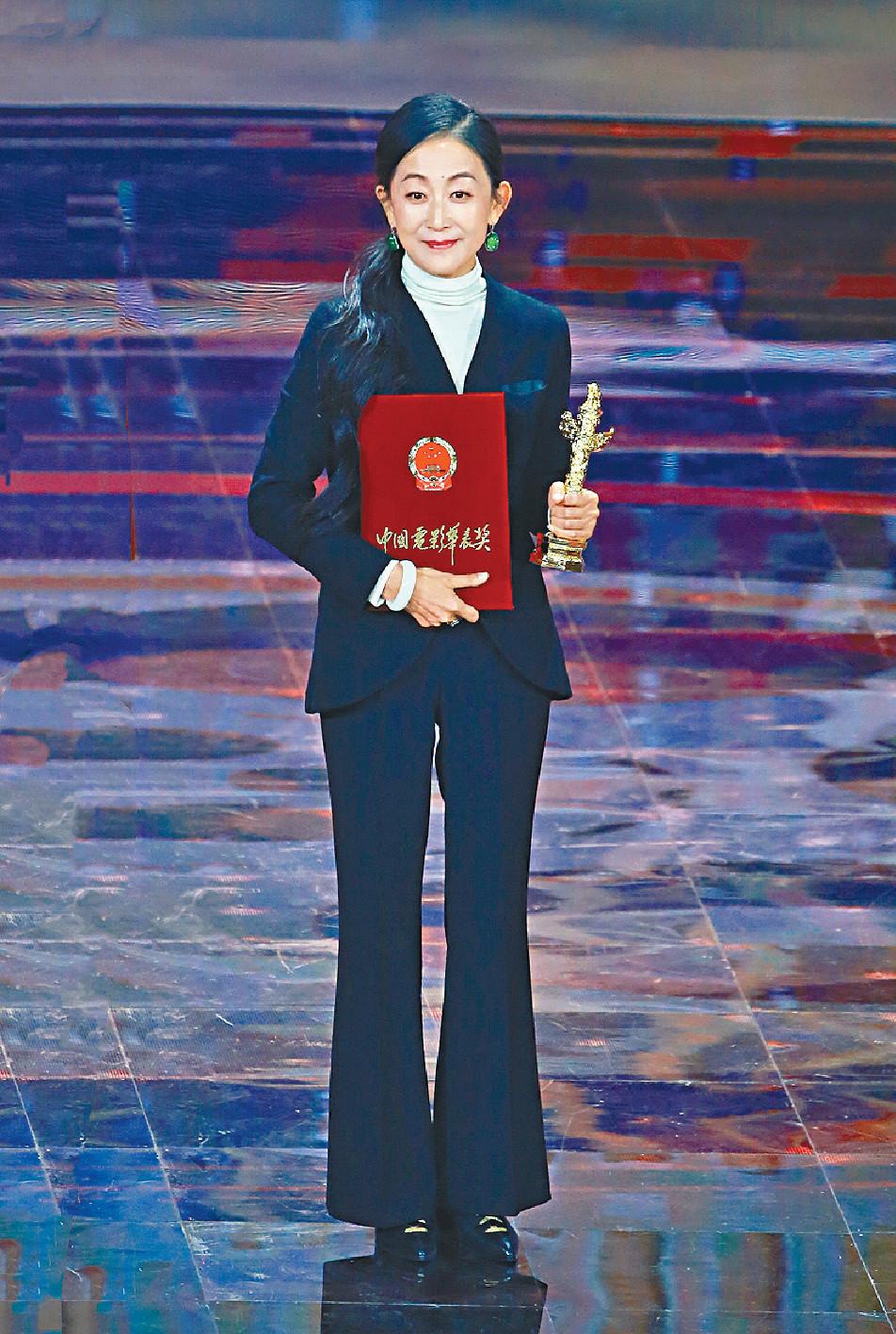 ■陳瑾獲頒華表獎影后殊榮。