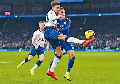 熱刺(白衫)新年響頭炮,並以六分之差繼續緊纏利物浦。
