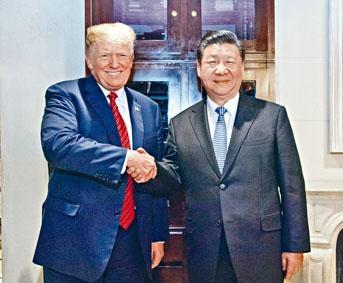 國家主席習近平、美國總統特朗普分別登上兩岸三地新聞人物榜首、二位。