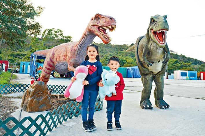 以恐龍為主題的立體畫拍照館,是拍照「呃Like」之選。