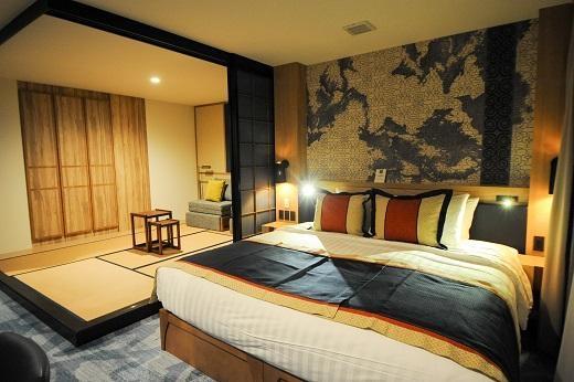設計時尚的麗緻客房,附設日式榻榻米。
