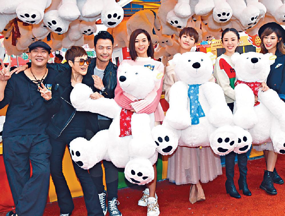 ■演員在嘉年華玩遊戲為周五大結局造勢。