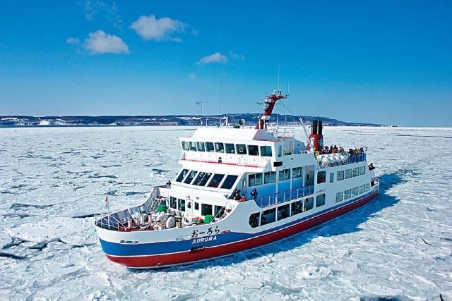 ■網走大型破冰船。