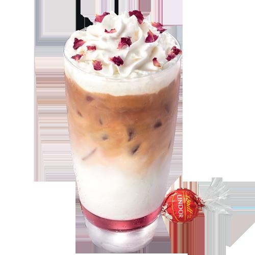 玫瑰鮮奶咖啡 x Lindt (凍)