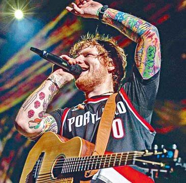 Ed去年因意外取消來港後,昨宣布4月在香港舉行兩場演出。
