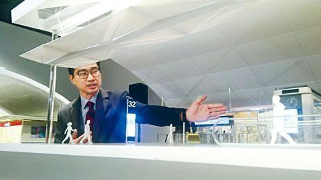 ■方瑞文表示,將引入智能登機閘口,以容貌識別技術加快旅客上機流程。