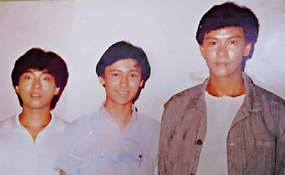 ■特別嘉賓歐信希(中)當年同呂方及孫明光係新秀戰友,當年他只得14歲。