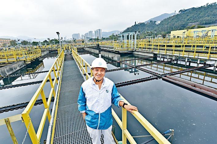 李松光在沙田污水處理廠工作超過十八年,現為廠內其中一名當值主管。