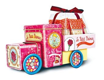●小王子與玫瑰小貨車,小貨車造型精美,以粉紅色為主調,浪漫動人。($88)