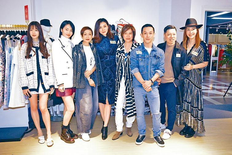 ■熊黛林與歐陽妙芝等,出席二手衣物平台開幕禮。