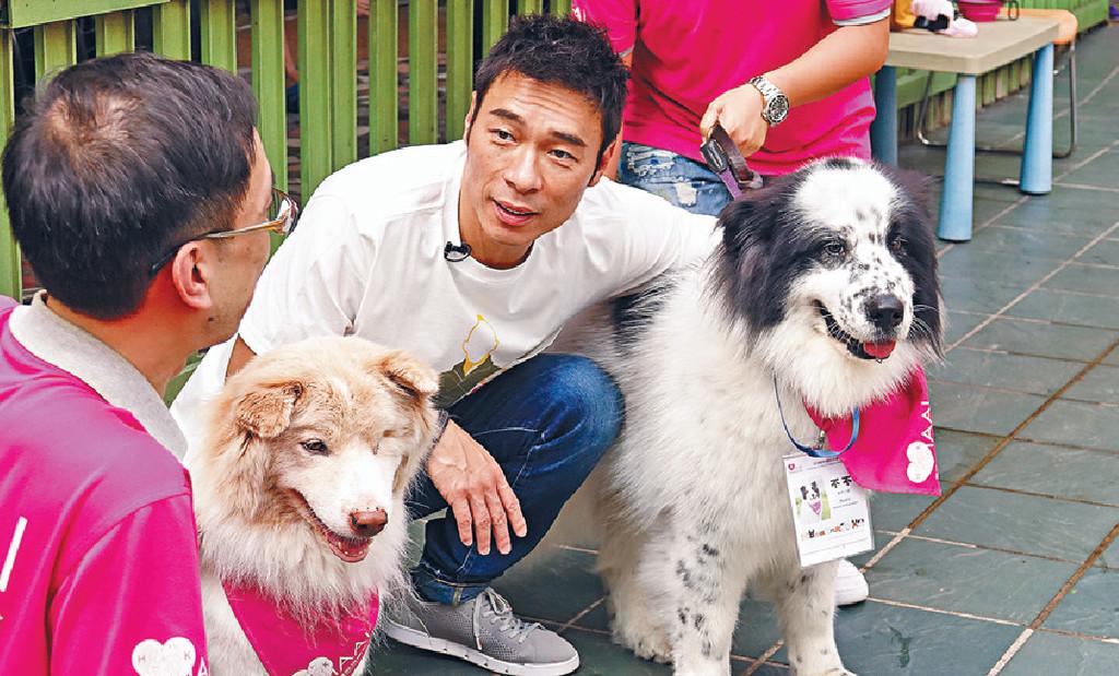 ■劉浩龍早已將新app推薦畀擁有愛犬Lucky嘅好友安仔。