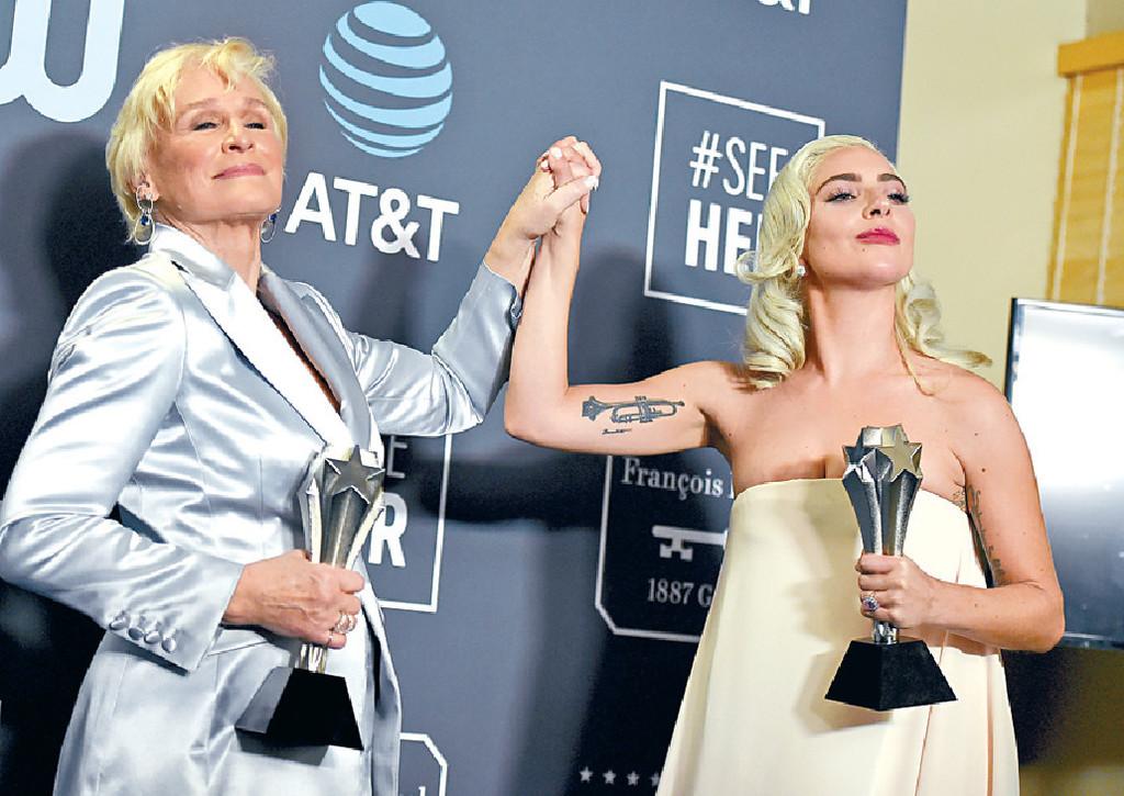 ■格蓮高絲與Gaga再碰頭爭影后。