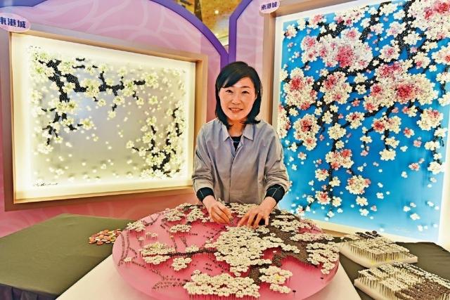■韓國藝術家Ran Hwang首次在港展出其鈕藝作品。