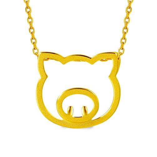 PetChat 999.9黃金小豬吊墜。