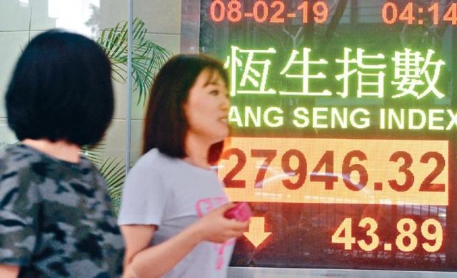 ■恒指豬年未能紅盤高收,收市跌43點。