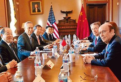 ■中美代表團今個周四將在北京再進行貿戰談判。