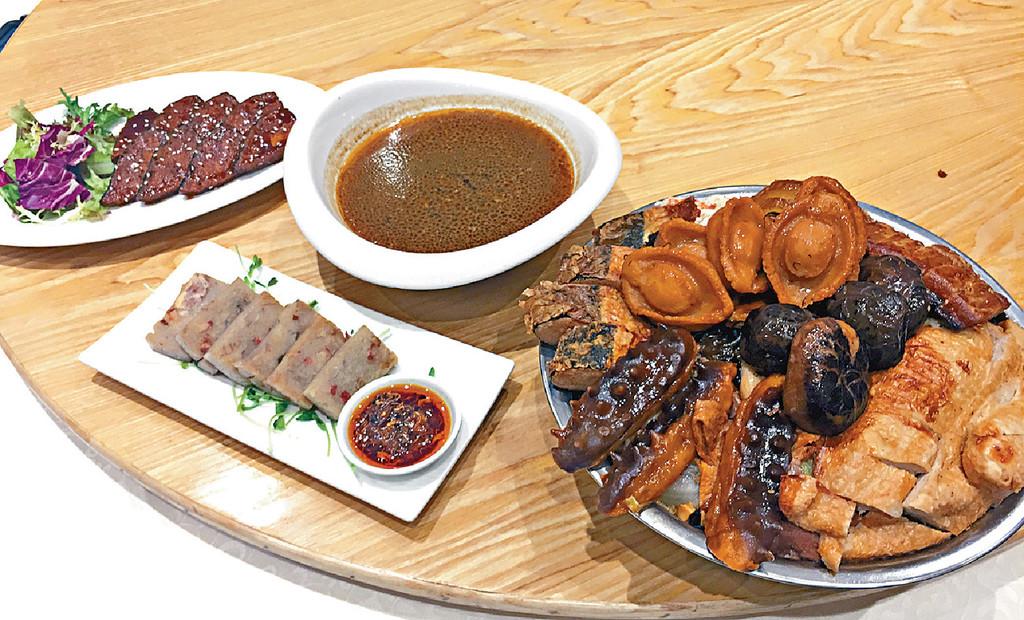 ■素盆菜有素鮑魚、素雞、素蝦及素海參等,賣相好精緻。