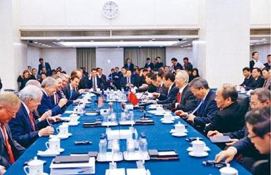 ■中國副總理劉鶴再次現身中美副部級貿易談判。