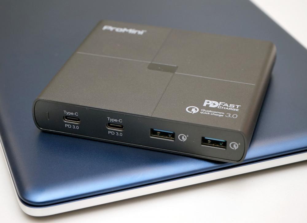 ProMini Qs105 PD可以同時為四台裝置充電,輸出功率高達105W。