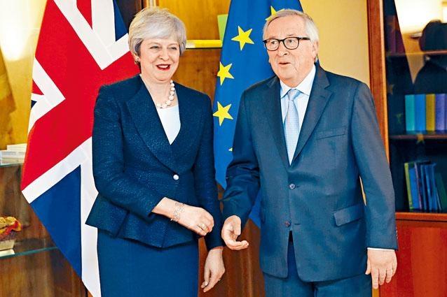 文翠珊與歐盟領袖容克周一在法國斯特拉斯堡會面。