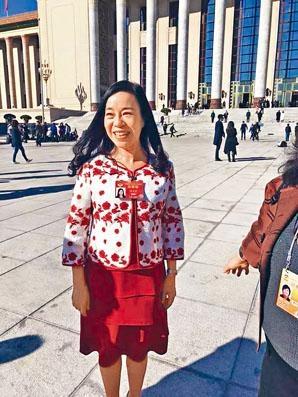 ■台籍港政協委員凌友詩出席政協閉幕式。