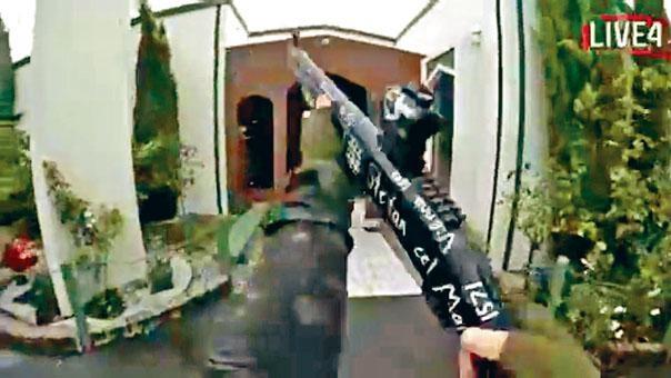 ■槍手用網上直播方式,如「打機」只見槍頭邊開火邊殺人。