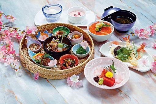 ●「花見」櫻花特色午餐包括有精緻雜錦季節拼盤、前菜、刺身、天婦羅、魚生飯、櫻花布甸等。($510)