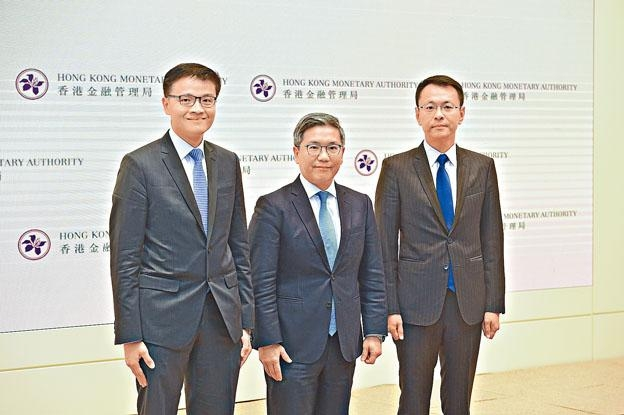 金管局首批發出三個虛擬銀行牌照,並正積極處理餘下5間機構之申請。圖中為金管局副總裁阮國恒。