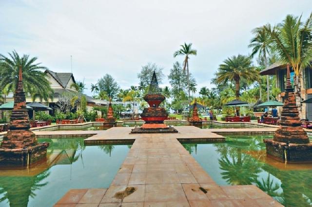■酒店植有大量綠化園景。