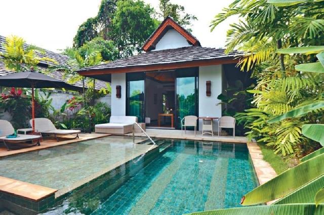 ■沙灘泳池別墅的私人空間感十足。