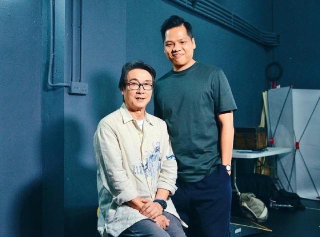 ■劉松仁(左)與執行導演黃俊達(右)。
