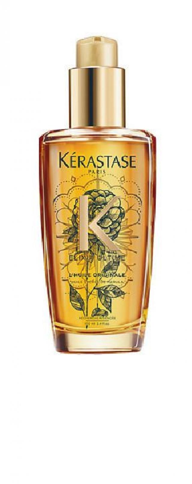 Kerastase 極緻全效修護精華 $400 以珍貴的山茶花籽油製成,山茶花帶有含蓄芬芳,而當中的油酸和亞麻油酸能滋潤並撫平毛燥髮絲,令秀髮豐盈柔軟,同時綻放璀璨亮澤。
