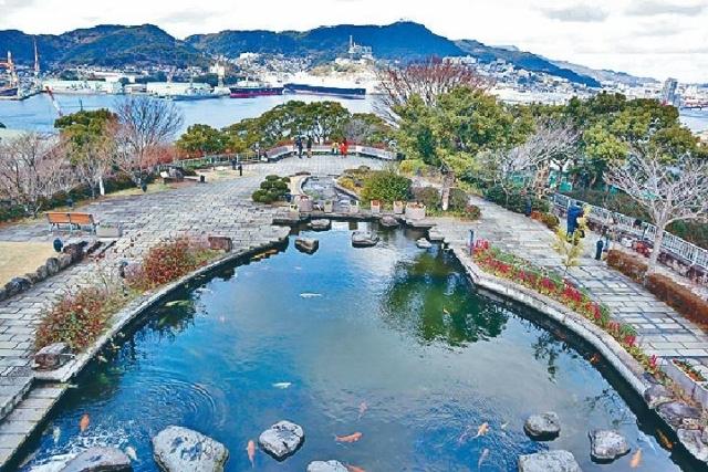 ■由舊三菱第二船塢設施可俯瞰長崎港風光。