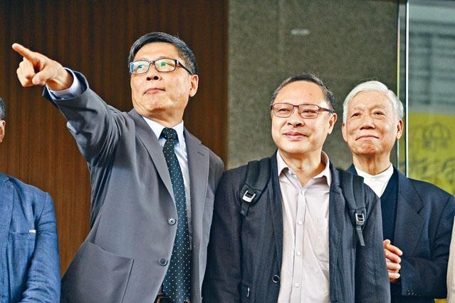 佔中三子(左起)陳健民、戴耀廷及朱耀明已於裁決當天完成求情。