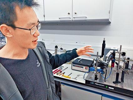 劉偉傑稱,可攜式熒光顯微鏡是簡化了結構的熒光共聚焦掃描顯微鏡。