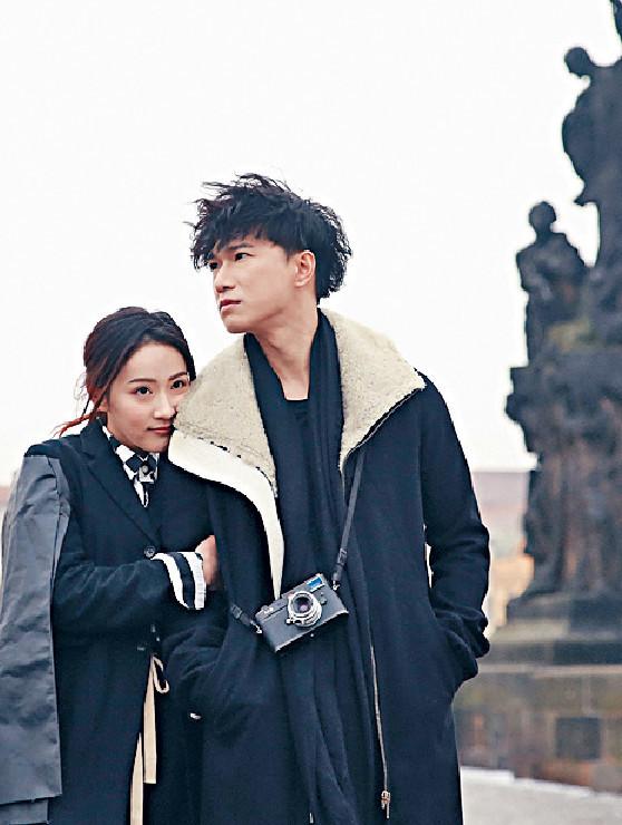 ■單飛時嘅布志綸(右)曾與吳海昕去布拉格拍MV。